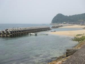 浅海の浜辺